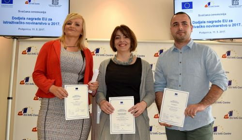 MONTENEGRO: Winners announced at EU Award for Investigative Journalism ceremony
