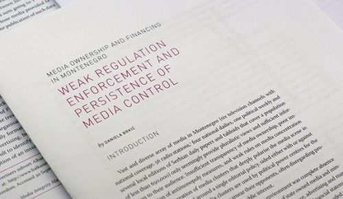 Media integrity report: Media ownership and financing in Montenegro