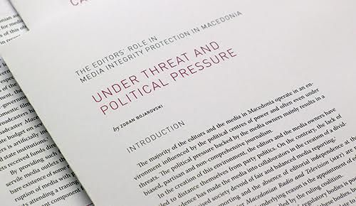 Editors in Macedonia: Under threat and political pressure