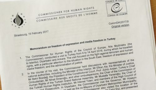 Memorandum on media freedom in Turkey