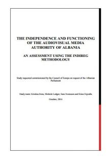 The Independence and Functioning of the Audiovisual Media Authority of Albania