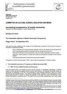The Unbearable Lightness of Media Ownership Transparency