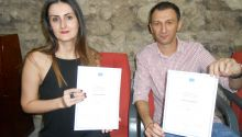 Miloš Teodorović and Ivana Lalić Majdak winners of the EU award for Investigative Journalism in Serbia